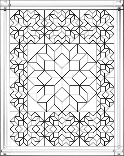 Quilt Pattern Coloring Pages free q is for quilt coloring pages