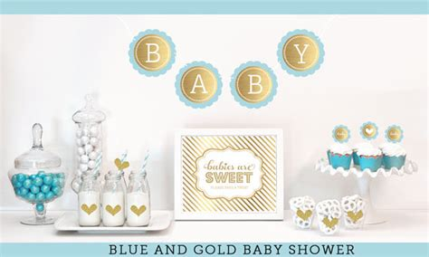Blue And Gold Baby Shower by Blue And Gold Baby Shower Decor Boy Baby Shower Ideas Gold