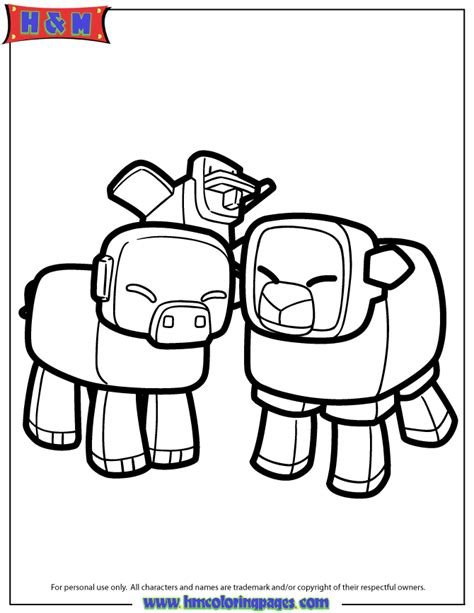 minecraft coloring pages all mobs minecraft animal coloring pages getcoloringpages com