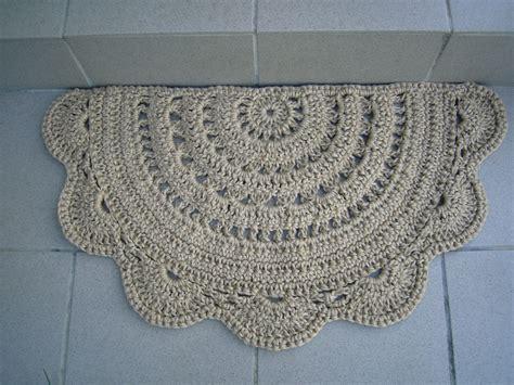 Crochet Doormat by Doormat Half Circle Crochet Jute Door Rug Kitchen Rug