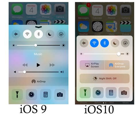 control center themes ios 9 apple ios 9 vs ios 10 the big difference