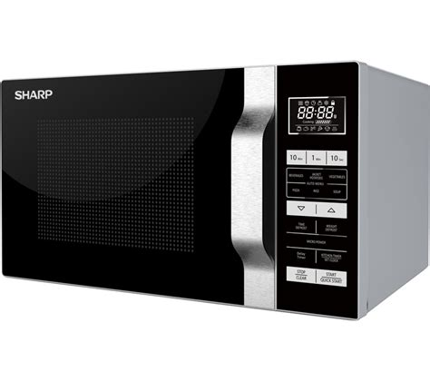 Microwave Grill Sharp buy sharp r760slm microwave with grill silver black free delivery currys