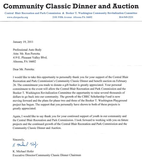 Thank You Letter For Donation For School Professionals Auto 187 Community Feedback
