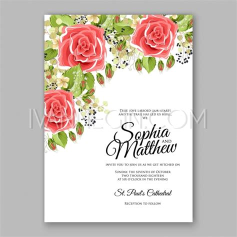 wedding invitation card suite with flower templates pink floral wedding invitation printable gold