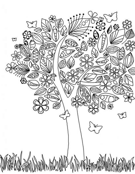 doodle god zucchero coloriage adulte printemps arbre au printemps 1