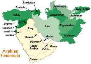 Arabian Peninsula On World Map by Map Of Arabian Peninsula My Blog