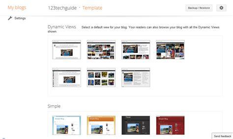 change blogger blogspot template 123techguide