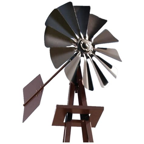 Decorative Backyard Windmill by Outdoor Water Solutions 174 Small Galvanized Ornamental