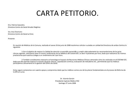 carta de consulta que es carta petitorio