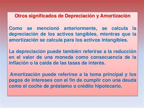 tasas impositivas de depreciacion y amortizacion en mexico presentacion depreciacion y amortizaci 243 n