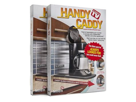 handy caddy kitchen appliance tray handy caddy sliding appliance tray 2 pack