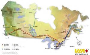 Canada Train Map by Canadian Railway Travel Canada Rail Vacations
