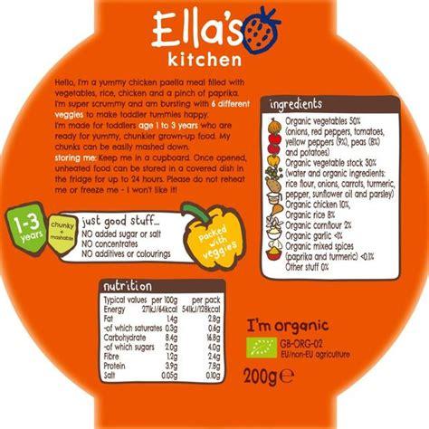 Ella S Kitchen Big Meals Ella S Kitchen Big Meal Chicken Paella Stage 4 200g