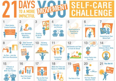 Committee by 21 Day Self Care Challenge Packet Move To End Violence