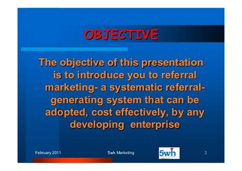 Ut Mba Marketing by The 5wh Of Referral Marketing1