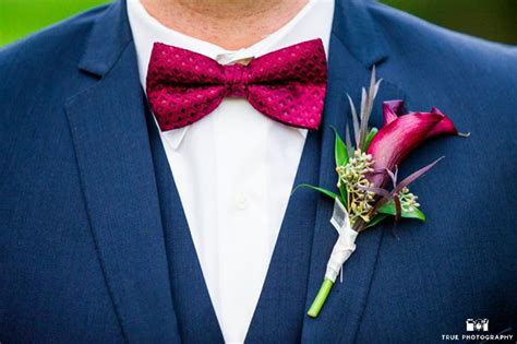 wine colored bow tie navy verona suit with matching wine colored bow tie and