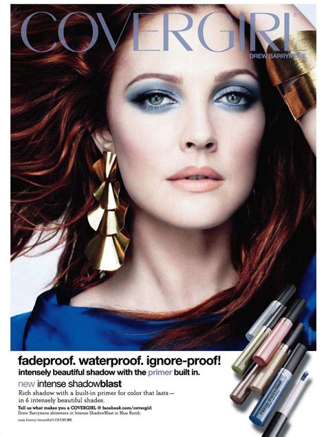 Drew Barrymore Signs Major Caign With Covergirl Cosmetics by Then Now Scream Beausic