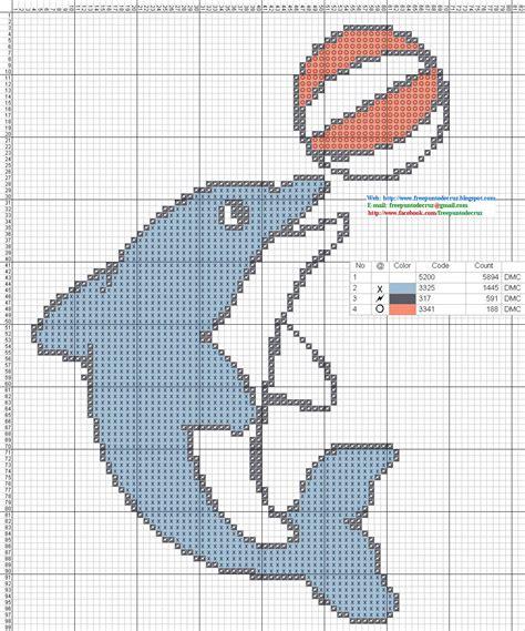 dibujos a punto de cruz de el libro de la selva de disney graficos punto de cruz gratis delfines 30