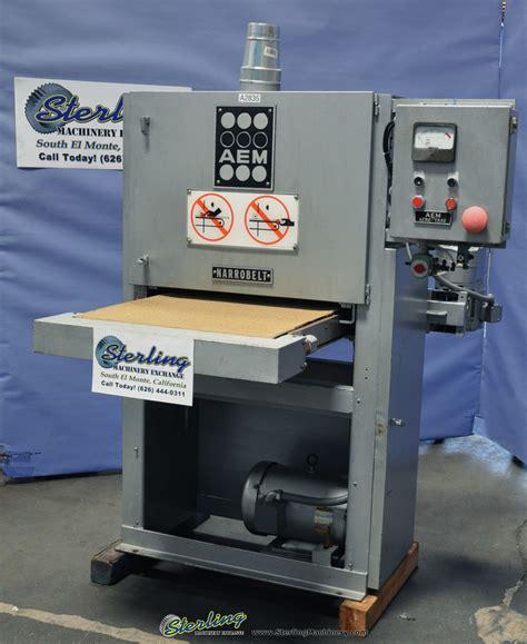 used aem wide belt wood sander sterling machinery