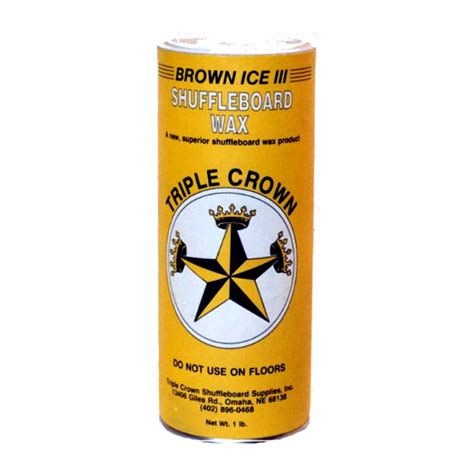 shuffleboard wax crown brown iii shuffleboard wax faster