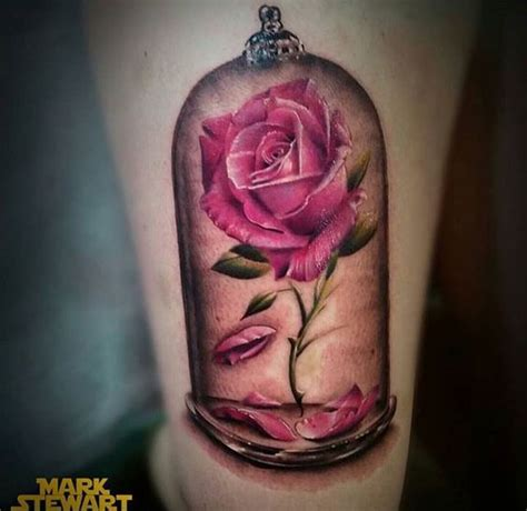 rose from beauty and the beast tattoo and the beast is by far my favorite disney