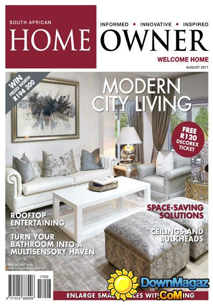 home decor magazines south africa south african home owner 08 2017 187 download pdf