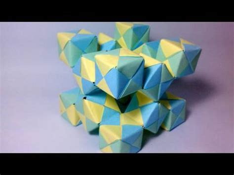 Movable Origami - origami moving cubes 2 using sonobe units