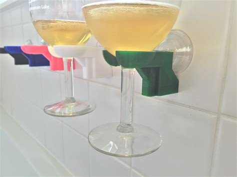 bathtub wine glass holder suction cup bathtub shower wine glass holder pick your color 3d
