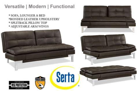 futon valencia brown leather sofa bed futon valencia serta lounger