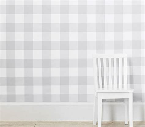 buffalo check peel stick wallpaper pottery barn kids