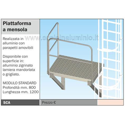 scale a mensola scala con gabbia di protezione piattaforma a mensola