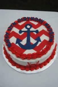 nautical themed birthday cake nautical themed birthday cake with anchor chevron and