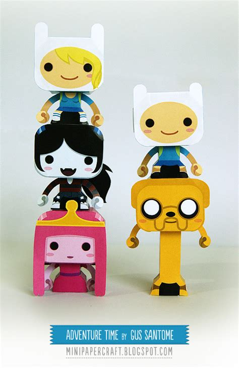 Adventure Time Paper Crafts - adventure time mini papercraft by gus santome on deviantart