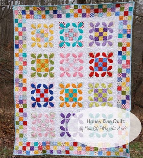 Sewing Quilt Borders by Honey Bee Quilt With Patchwork Borders Tutorial Why
