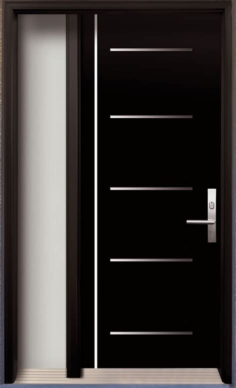 Modern Wood Interior Doors Modern Contemporary Door Modern Wood Door With Stainless Steel Design Installed In Thornhill