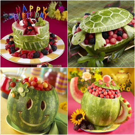 Watermelon Decorations by Time For Some On With Watermelon Carvings