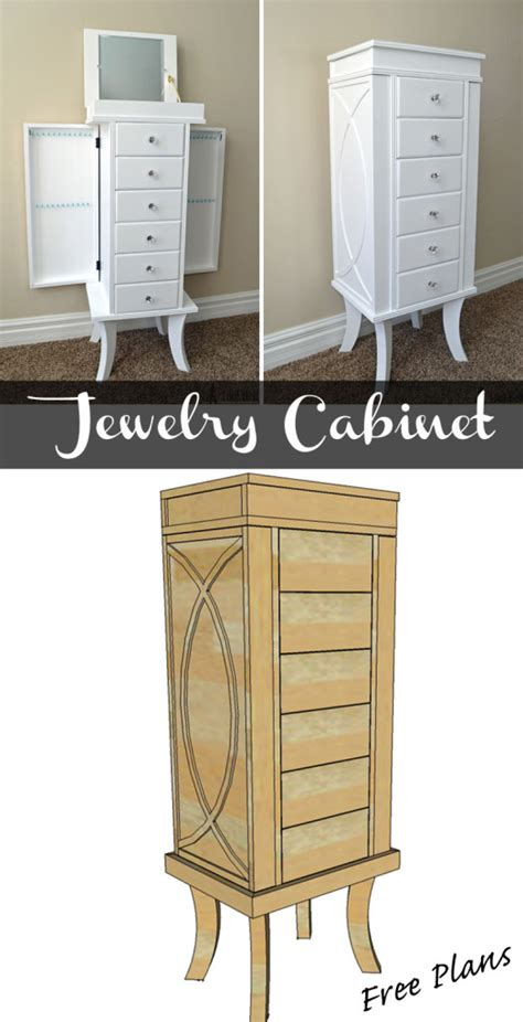 Jewelry Armoire Plans Free by Plans For Jewelry Cabinet Manicinthecity