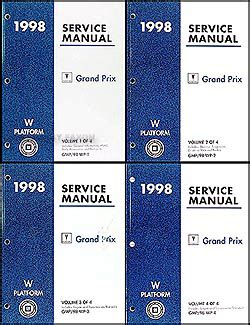 best car repair manuals 1998 pontiac grand prix electronic valve timing 1998 pontiac grand prix repair shop manual original 4