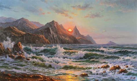 imagenes abstractas y realistas im 225 genes arte pinturas paisajes asombrosos del mar oleos