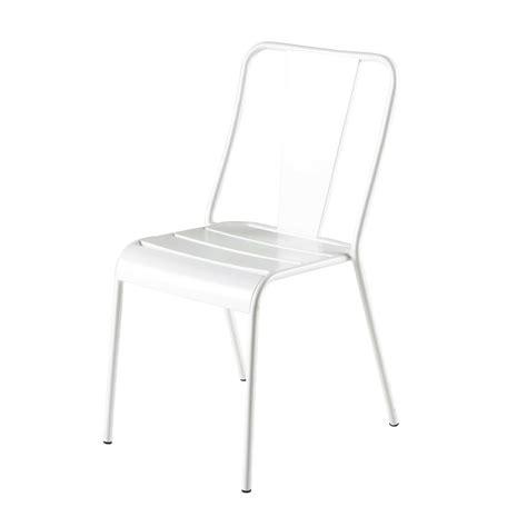 chaise de jardin blanche chaise de jardin en m 233 tal blanche harry s maisons du monde