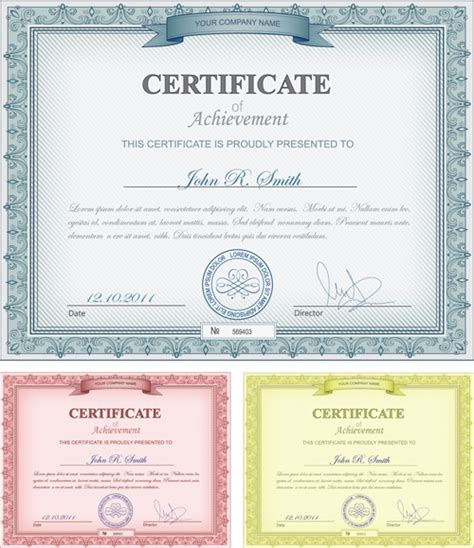 commonly certificate cover vector template 04 vector