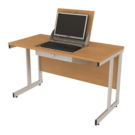 School Desk Laptop Table Dfe Furniture For Schools Smart Top Desks