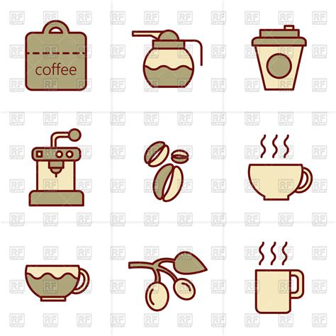 espresso coffee clipart coffee icons set espresso coffee pot royalty free vector