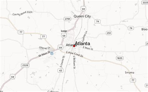 atlanta texas map atlanta texas location guide