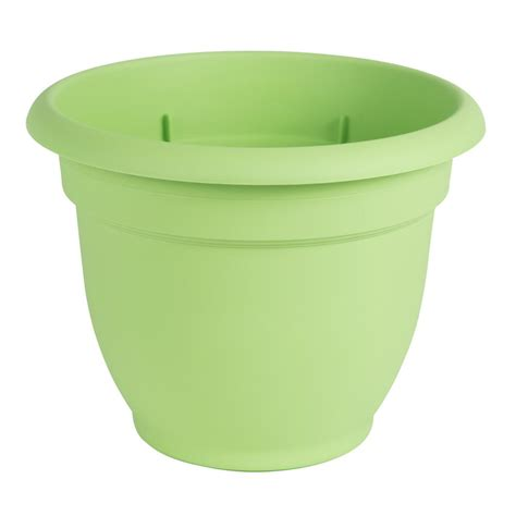 self water planter algreen modena 16 in square gloss black plastic self