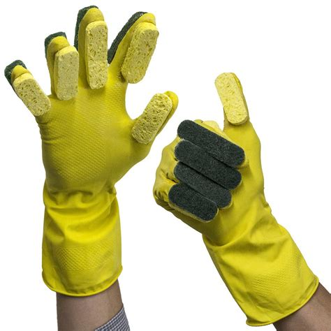 Cleaning Glove gloveasy 174 cleaning glove sponge finger scrub scouring pads