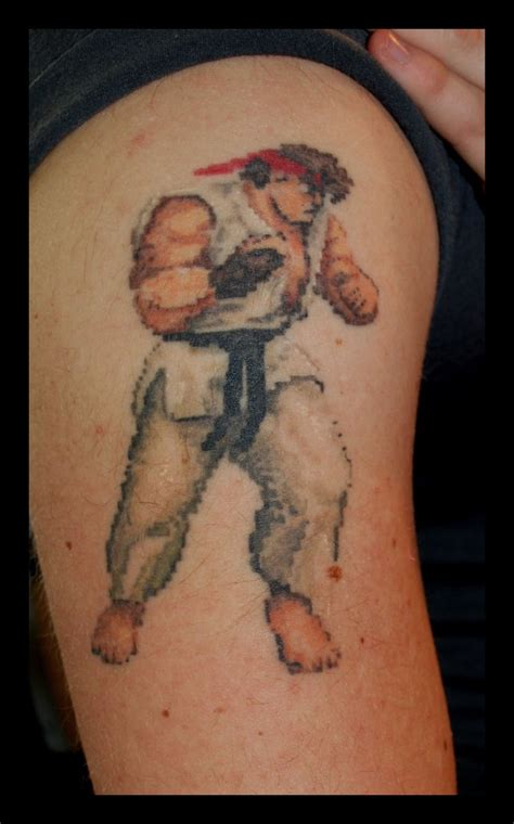 ryu tattoo ryu streetfighter retro gaming calavera