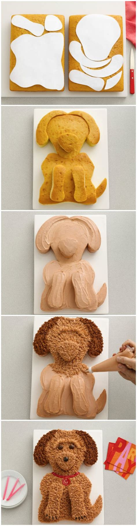 perfect poodle dog cake with template picmia