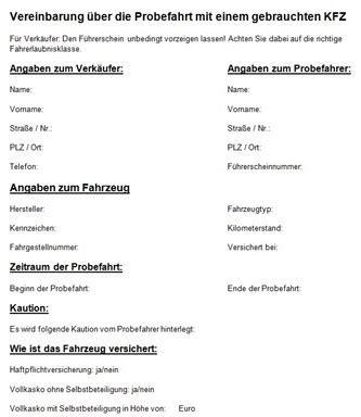 Motorrad Probefahrt Versicherung by Die Probefahrtvereinbarung Probefahrt Nicht Ohne