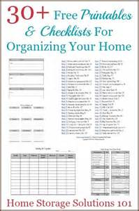 organize my house checklist how to get organized printables checklists to help you